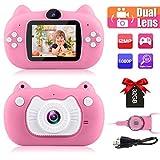 子供用 デジタル カメラ 前後カメラ 自撮り 2.0インチ 液晶ディスプレイ キッズカメラ 32GSDカート付き 1080P録画 USB充電 プレゼント 子供の日 誕生日 多機能 子供カメラ