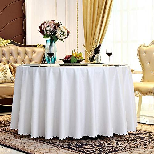 LJJYF PU-Leder Wasserdicht, Verbrühungs- und Anti-Öl Hotel Runde Tischdecke-weiß_150 * 260cm,Tischdecke Geeignet für Home Küche Dekoration