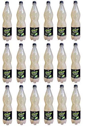 18x Lémonsoda Mojito alkoholfreies Getränk mit sizilianischen Zitronen PET 1Lt Italienischer alkoholfreier Mojito Softdrink
