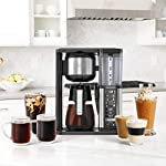 Ninja specialty fold-away frother (cm407) coffee maker, single serve to 10 cup (50 oz. ) 19 specialty brew: brew super rich coffee concentrate that you can use to create delicious lattes, macchiato, cappuccinos, and other coffeehouse style drinks iced coffee: brew fresh over ice for flavorful iced coffee that's never watered down 6 brew sizes: brew anything from a single cup or travel size to a half carafe or a full carafe in your coffee maker