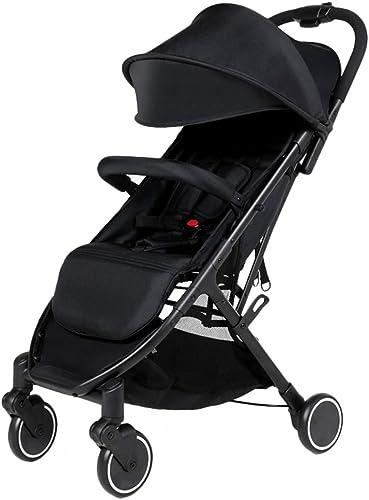 Kinderfürr r Reisesystem Kinderwagen Dreirad Für Kinder 0-3 Klappwagen Tragbarer Hoher Ansichtswagen (Farbe   schwarz, Größe   48  50  97cm)