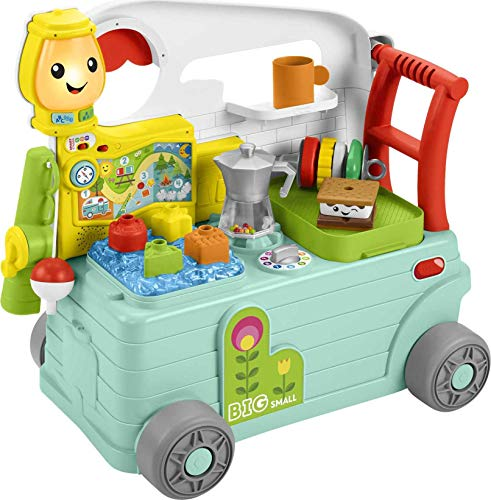Fisher-Price Laugh & Learn 3-in-1 On-the-Go Camper, Musical Push-Along...