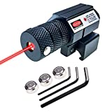 MOSANDON Compact Tactical Red Beam Laser Sight,Laser Dot Sight Scope for Rifles Pistols Handguns fits Standard 20mm Picatinny Rail Mount (Red Dot)