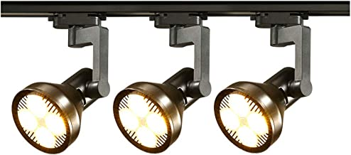 ZHI BEI Track Light - LED Track Lights Wall Track Lights - Black/White - 20W/30W/40W - 3 Heads | (Color : Black, Size : 20w)
