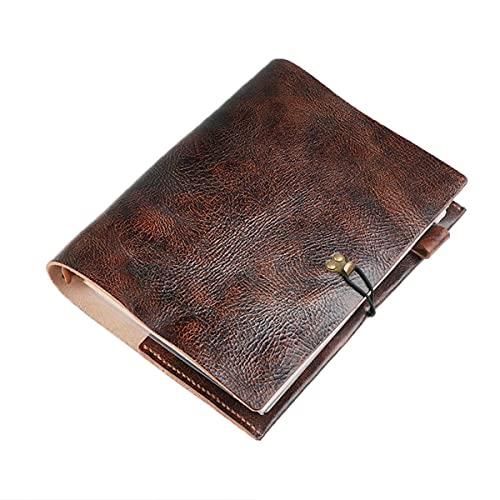 RAN A6 / A5 / A4 De Hojas Sueltas de Cuero Retro del Cuaderno Oficina Manual Original Hecho a Mano Trabajo Diario Sketchbook Diario Papel de Kraft (Size : A5)