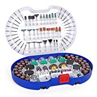 ♦ COMPREHENSIVE ACCESSORIES: All-purpose accessory set great for cutting, engraving, grinding, polishing, sanding, scraping, sharpening, drilling and cleaning on variety of materials - an extensive set perfect for DIY enthusiasts ♦ VARIOUS ACCESSORIE...