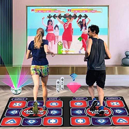 Tapete de Baile, tapete Luminoso de Masaje somatosensorial SD Engrosado de 30 mm, tapete de Baile inglés 3D, Consolas de Juegos Entre Padres e Hijos