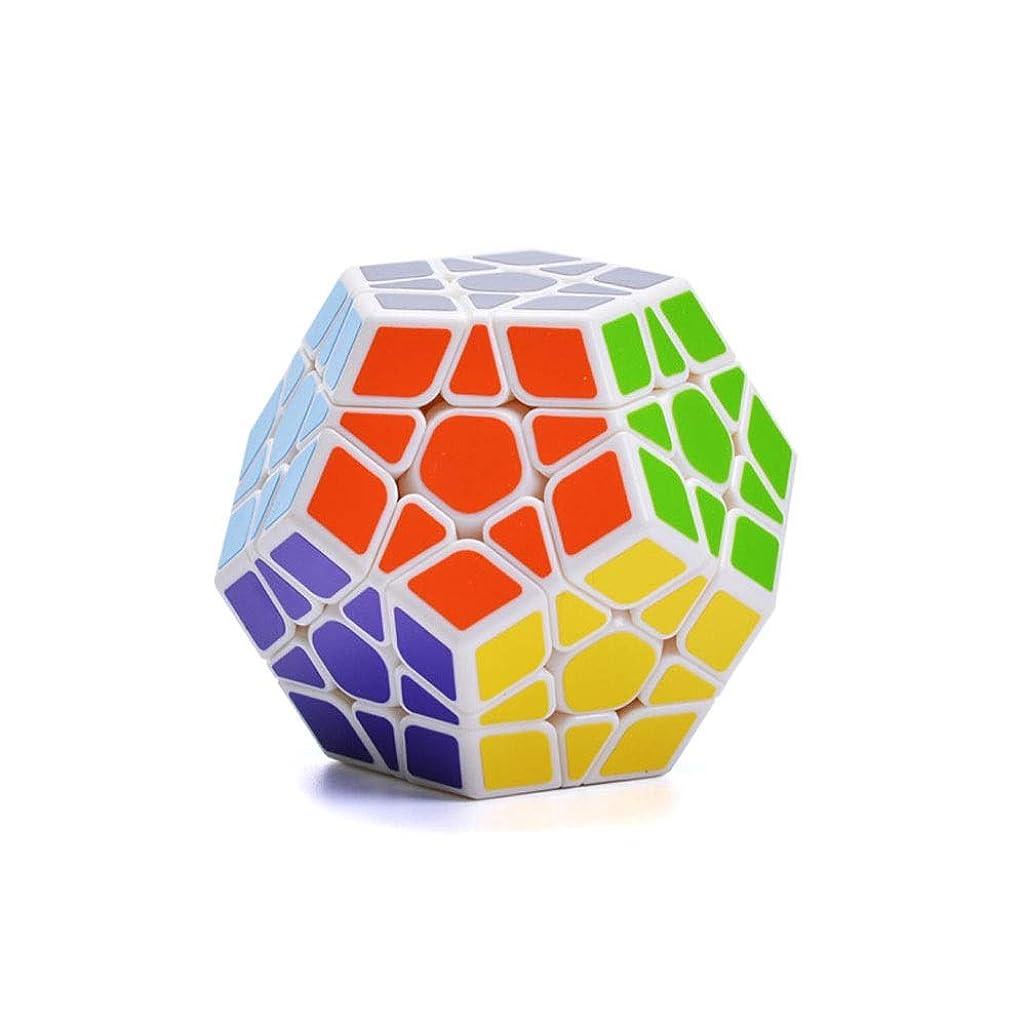 タンパク質指紋止まるWuhuizhenjingxiaobu ルービックキューブ、五芒星のスタイルデザインキューブ、高品質のデザインスタイル、安全で環境に優しい材料設計(ブラック/ホワイト) なめらか (Color : White)