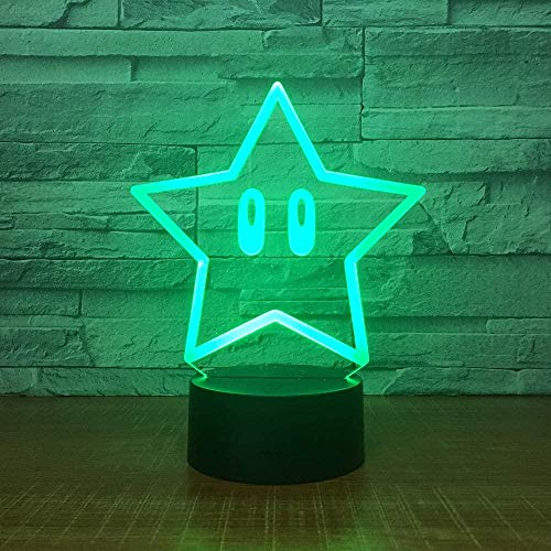 Cute 3D Illusion Lamp Suitable For Boys And Girls Bedroom Bar Living Room Birthday Christmas Gifts Usb Charging Touch Mode 7 Color Variations
