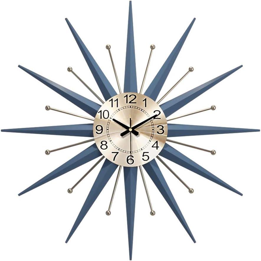 Mid-Century Metal trend rank Wall Clock Large Decoration f Starburst Attention brand