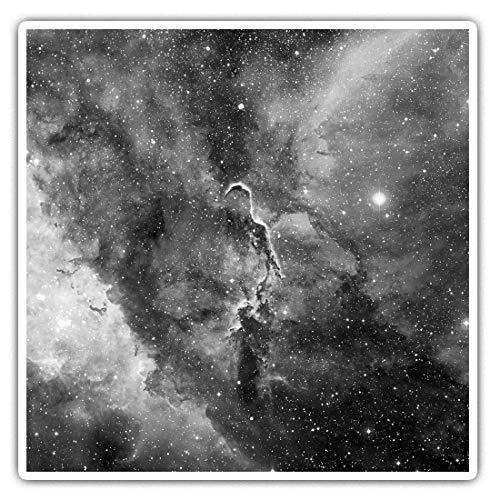 Impresionantes pegatinas cuadradas (juego de 2) 10 cm BW – Brillantes Coloridos Espacio Nebulosa Galaxy NASA Divertidas calcomanías para portátiles, tabletas, equipaje, reserva de chatarras, frigoríficos, regalo fresco #43565