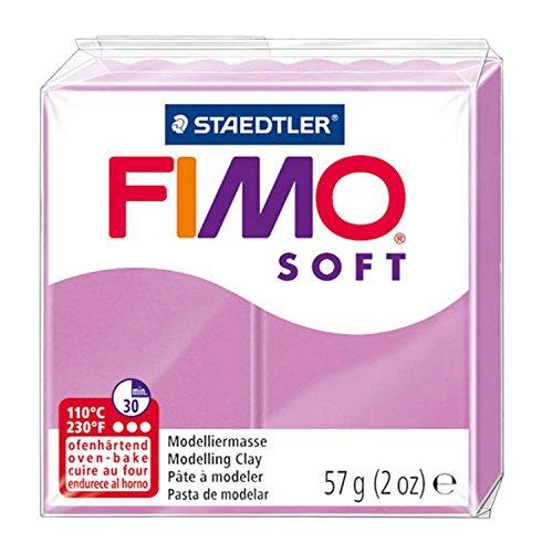 Staedtler 8020-62 - Fimo Soft Normalblock, Modelliermasse, 57 g, lavendel