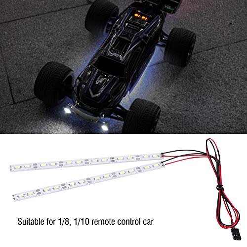 Chassis Light, 6V 24 LEDs Chassis Body Tube Strip Light Bar RC LED Strip Fit for 1/10 1/8 RC Car Crawler Buggy 2