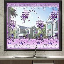 Lavendel DIY zelfklevend raamscherm, anti-vliegenmuggen-insectengordijn, met magneten voor raam volledig frame (150x150cm)