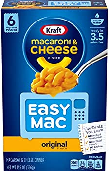 Kraft Easy Mac Original Flavor Macaroni and Cheese Meal (6 Pouches)