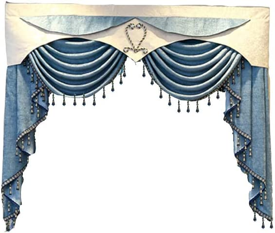 pureaqu Luxurious Waterfall Swag Valances for Industry Reservation No. 1 Europe Living Room