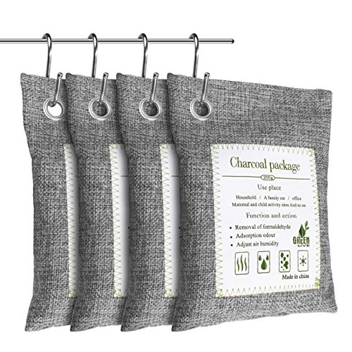 Best Bargain Dioxide 4 Pack Bamboo Charcoal Air Purifying Bag,Naturally Activated Charcoal Damp Rid ...