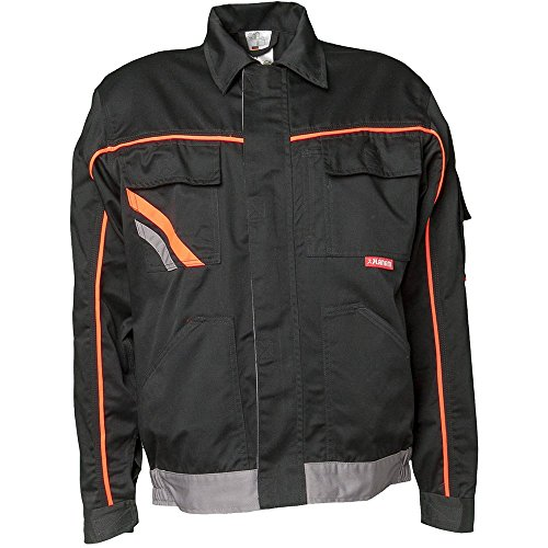 Planam Bundjacke Visline V1, Größe 60, schwarz / orange / zink, 2411060