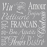 RAYHER HOBBY 38906000 Schablone French Living, 30,5 x 30,5 cm, Polyester, SB-Btl 1 Stück