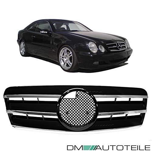 DM Autoteile CLK W208 C208 A208 Gitter Grill Kühlergrill Schwarz Glanz Chrom 97-03