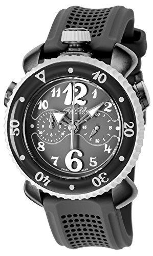 [gagamirano] Gaga Milano reloj Chrono deportes 45mm negro Dial 100M resistente al agua 7013.01Hombres del paralelo mercancías de importación]