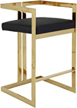Restaurants Living Rooms 30in with Backrest Commercial Quality Brushed Stainless Steel High Stool Cafes Counter Height 76cm Xipi Cushion Suitable for Bars
