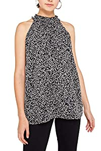 ESPRIT Damen 119EE1F007 Bluse, Schwarz (Black 001), (Herstellergröße: 40)