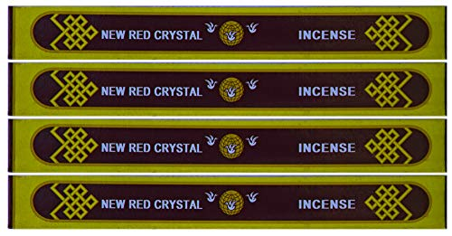 'New' Red Crystal Incense - 8' Box- Sold as set of 4