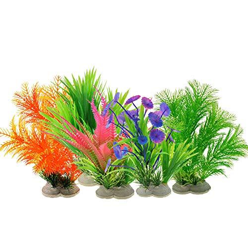 Homvik Plantas Artificiales Acuario Plantas plásticas Decoración Acuarios Ideal Ornamento para Acuario Perece Terrario de Tortuga Seguro y Bello