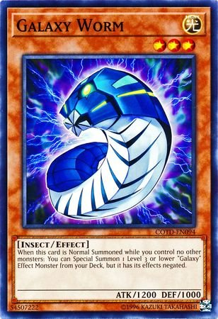 yu-gi-oh Galaxy Worm - COTD-EN094 - Common - Unlimited Edition - Code of The Duelist (Unlimited Edition)