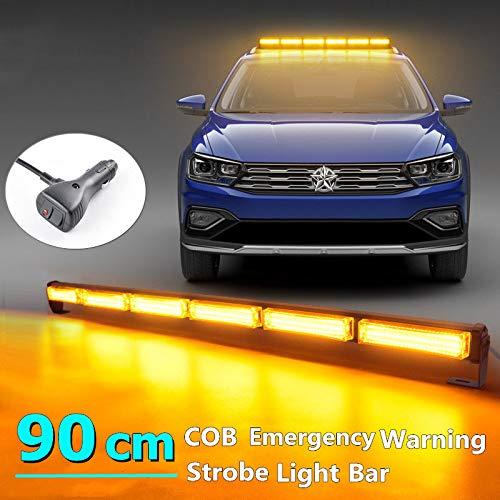 LED extra schijnwerper 35 inch 60W barnsteen LED werkschijnwerper boven dak mini strip stroboscoop licht LED mistlicht schijnwerper bootverlichting, 14 knipperende stroboscoop modi