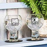 Copas para gin tonic Ladies & Gentlemen, igual cantidad para hombre y mujer, Transparente, 9.5cm (DIA) x 14.5cm (H)