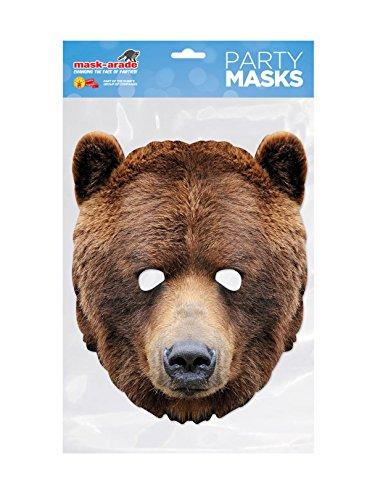 Rubie s Frankreich–mbear001–Maske–Karton BÄR