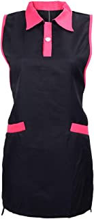 YUENA CARE Sleeveless Aprons for Hair Stylist Salon Working Barber Apron Pet Groomers Smock Vest Black