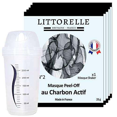 Littorelle 5 Masques avec Shaker - Made in France - Peel-Off au...