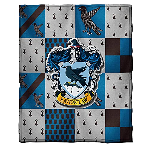 Harry-Potter Ravenclaw Manta Sofa de Microfibra,3D Impresión Manta,100% Franela Cálida Mantas,Manta de Aire Acondicionado,Manta Cuatro Estaciones para Adultos y Ni?os-130x150cm