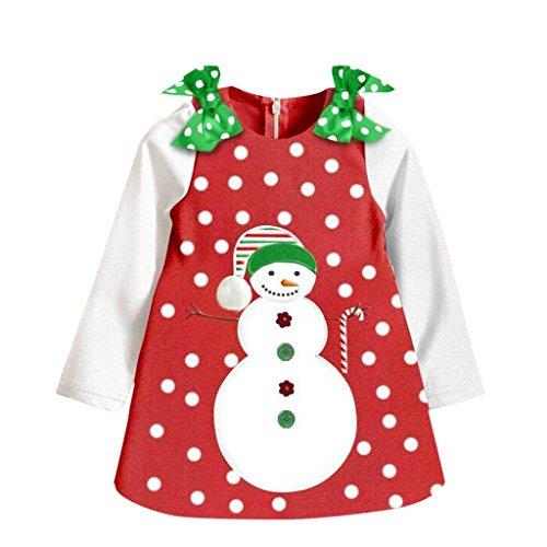 Perfeclan Het rea barn baby flicka långärmad julfest klänning mode fritidskläder