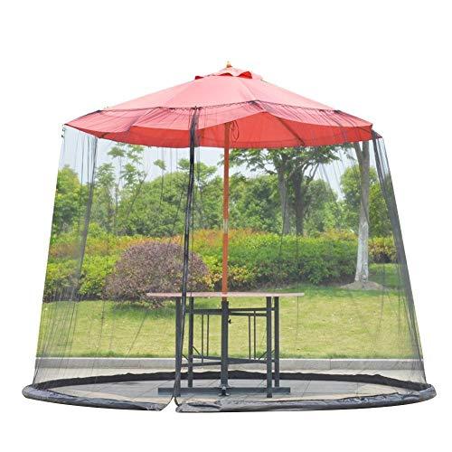 Paraguas Mosquitera para Gazebo – Jardín Exterior Pantalla paraguas cubierta circular Patio paraguas Mosquitero de malla con cremallera Tablas Patio neto cubierta al aire libre Patio ( Color : A )