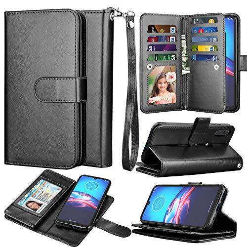 Moto E 2020 Case, Wallet Phone Case Motorola Moto E, Takfox PU Leather w 9 ID Credit Card Holder Slots Folio Flip Magnetic Detachable Hard Cover Case...
