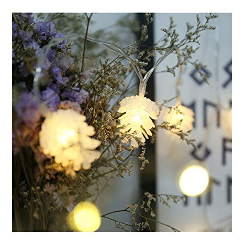 FUSKANG LED Fairy Lights Christmas Pine Cones String Lights Battery or USB Operated Waterproof for Christmas Garden Patio Bedroom Party Decor Indoor Outdoor Celebration Lighting Warm White