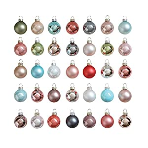 "Creative Co-Op XM0660 Silent Night Set of Five 1"" Round Glass Ornaments, Pastel,Multi-Color At Creative Co-Op, passion is at the heart of all we do - passion for Product, passion for quality, and passion for customer success. It is this passion that ..."