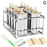 DIY Ice Cream Mould,10pz 304stainless steel Ice pop stampini per ghiaccioli a forma di ghiaccio riutilizzabili, con supporto per bastone
