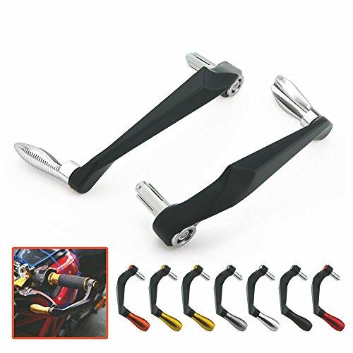 GOZAR 28mm Handlebar Handguard Hand Guard Motorcycle Pit Dirt Bike ATV Universal Black