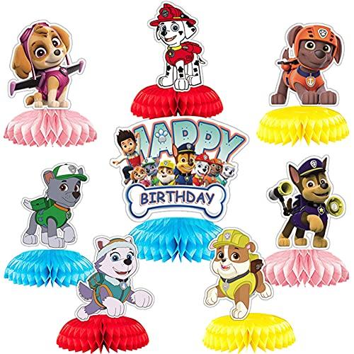 Paw Patrol Cake Topper, BESTZY Decoración Tarta De Niños, Patrulla de perros Para Cumpleaños De Niños, Fiesta De Baby Shower, Diy Tema Decoración De Tartas, 8Piezas