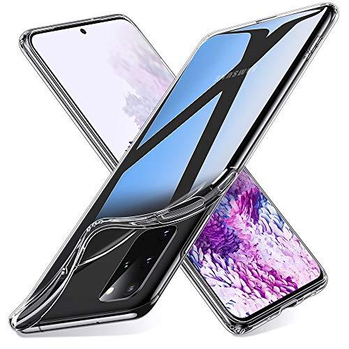 ESR Klare Silikon Hülle kompatibel mit Samsung Galaxy S20 Plus 2020, [Luftpolster] [Bildschirm- und Kameraschutz] [Ultra-dünn] Essential Zero Weiche Flexible TPU Hülle - Klar