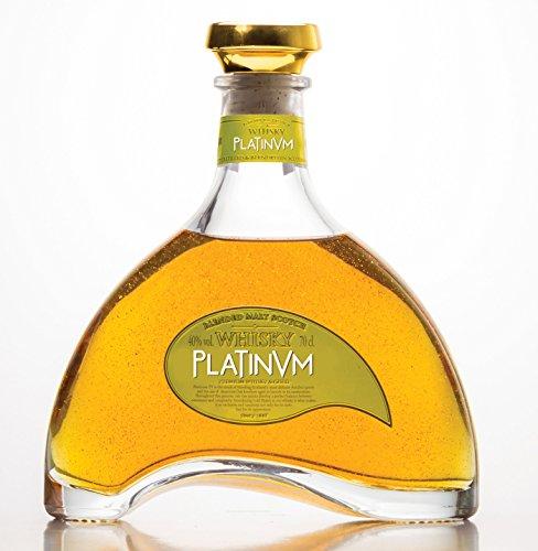 Platinvm Whisky Blended Malt Scotch con oro - ideal regalo día del padre, Navidad, cumpleaños, aniversario, San Valentín