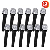 ArtCreativity 5.5 Inch Toy Microphone Set for Kids - 12 Count - Pretend Play Plastic Mics for Karaoke Fun - Stage or Costume Prop - Birthday Party Favors, Goody Bag Fillers for Boys, Girls, Toddlers