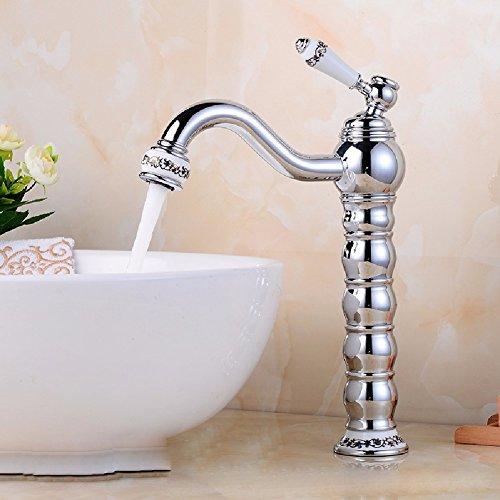HQLCX Robinets de lavabo Pleine De Cuivre Seul Trou Froid Bassin Chaude Lavage Robinet Seul Trou De Piscine Robinet