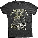 Metallica Justice Vintage_Men_bl_TS: S Camiseta, Negro (Black Black), Small para Hombre