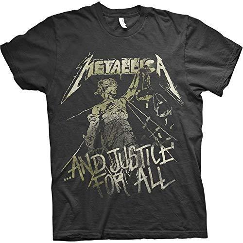 Metallica Justice Vintage_Men_bl_TS: S T-Shirt, Nero (Black Black), Small Uomo